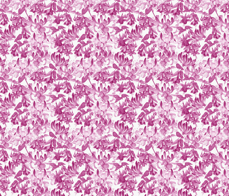 Tangled Garden - Pink & White fabric by gail_mcneillie on Spoonflower - custom fabric