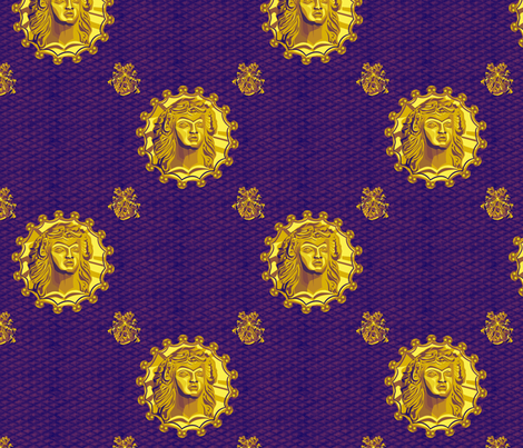 ancient_medallion_royal_slide fabric by glimmericks on Spoonflower - custom fabric
