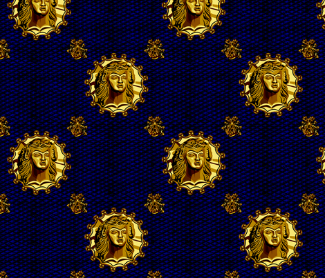 ancient_medallion_czar_slide fabric by glimmericks on Spoonflower - custom fabric