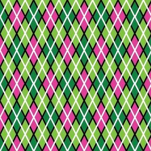 GIR Argyle - Light Green, Dark Green and Light Pink