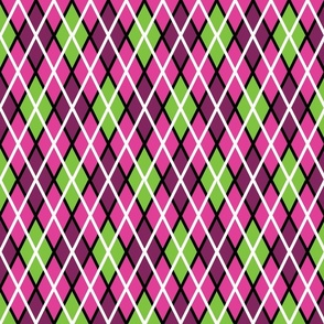 GIR Argyle - Light Pink, Light Green and Dark Pink