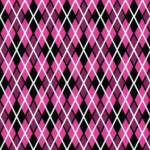 GIR Argyle - Light Pink, Dark Pink and Black