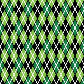 GIR Argyle - Light Green, Dark Green and Black
