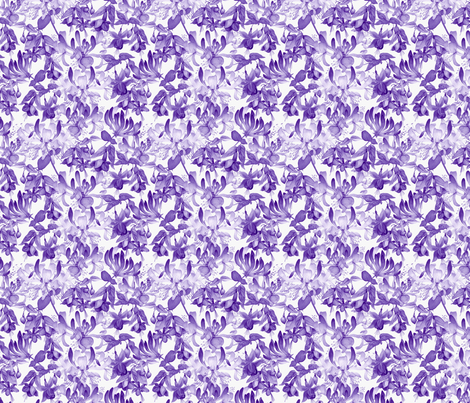 Tangled Garden - Violet & White fabric by gail_mcneillie on Spoonflower - custom fabric