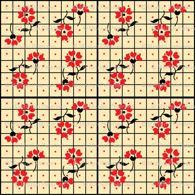 Red Flower Vintage