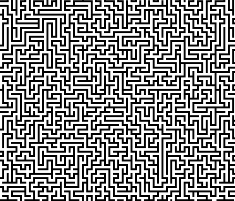 Maze fabric by kimsa on Spoonflower - custom fabric