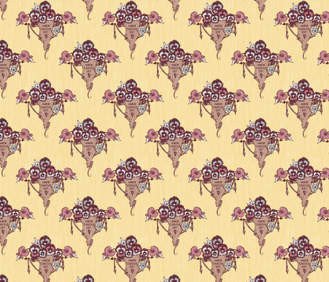 Love is Blind - saffron fabric by thecalvarium on Spoonflower - custom fabric