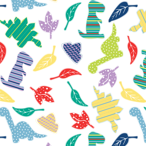 Dinomite! fabric by jannasalak on Spoonflower - custom fabric