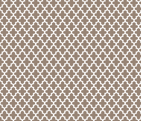Mocha Brown Moroccan fabric by sweetzoeshop on Spoonflower - custom fabric