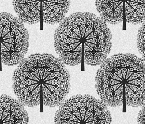 FanLinens - Black fabric by bonnie_phantasm on Spoonflower - custom fabric