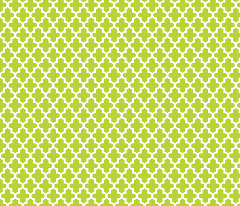Apple Green Moroccan fabric by sweetzoeshop on Spoonflower - custom fabric