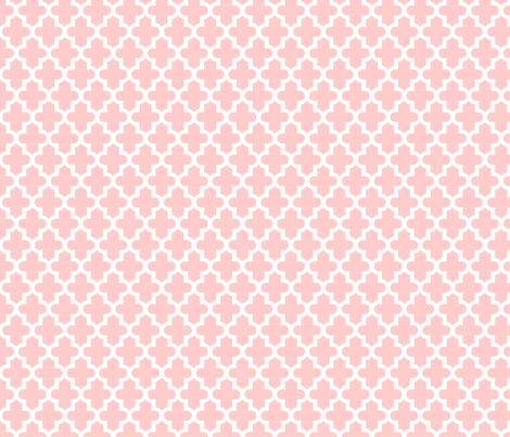 Light Pink Moroccan fabric - sweetzoeshop - Spoonflower