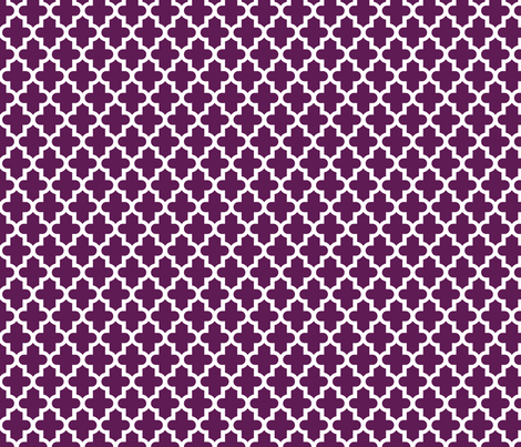 Plum Purple Moroccan fabric by sweetzoeshop on Spoonflower - custom fabric