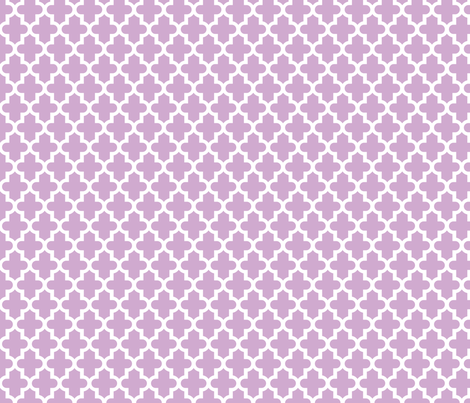 Lilac Purple Moroccan fabric by sweetzoeshop on Spoonflower - custom fabric