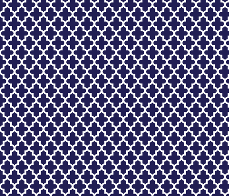 Navy Blue Moroccan fabric by sweetzoeshop on Spoonflower - custom fabric
