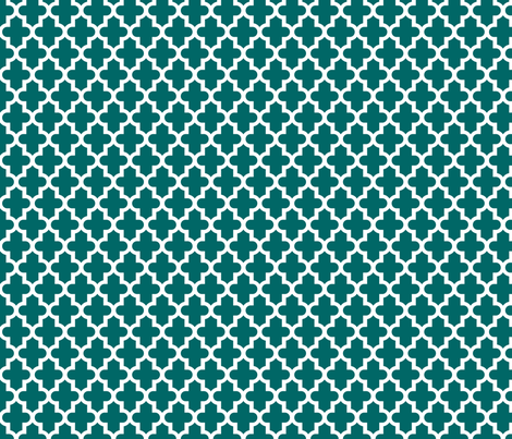Dark Teal Moroccan fabric by sweetzoeshop on Spoonflower - custom fabric