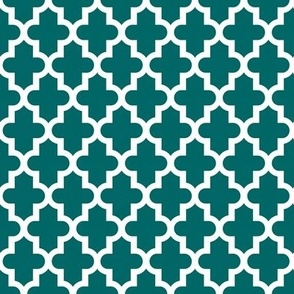 Dark Teal Moroccan