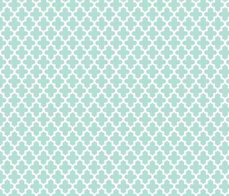 Mint Moroccan fabric by sweetzoeshop on Spoonflower - custom fabric