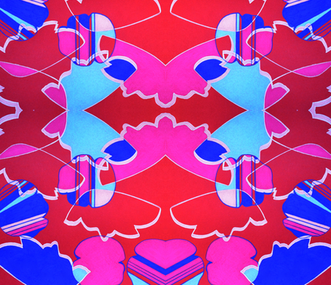 RETRO Floral  fabric by stelladottie on Spoonflower - custom fabric