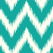 Teal Ikat Chevron