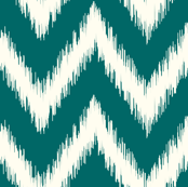 Dark Teal Ikat Chevron