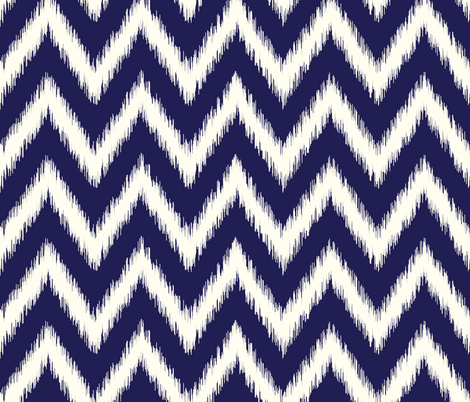 Navy Blue Ikat Chevron fabric by sweetzoeshop on Spoonflower - custom fabric