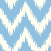 Sky Blue Ikat Chevron