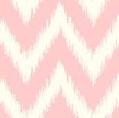 Light Pink Ikat Chevron