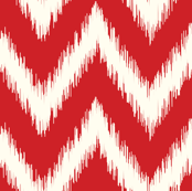 Red Ikat Chevron