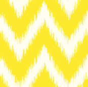 Yellow Ikat Chevron