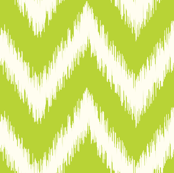 Apple Green Ikat Chevron