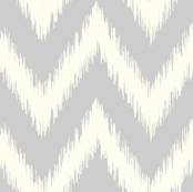 Light Gray Ikat Chevron