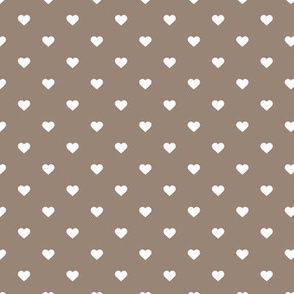 Mocha Brown Polka Dot Hearts