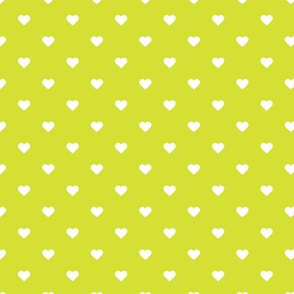 Lime Green Polka Dot Hearts