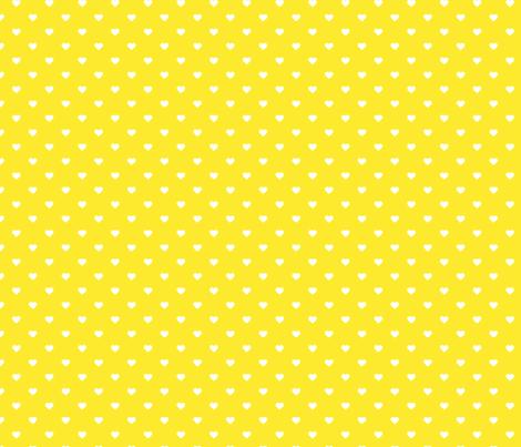 Yellow Polka Dot Hearts