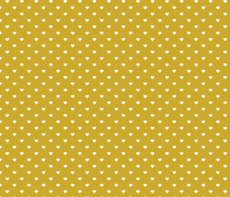 Gold Polka Dot Hearts fabric by sweetzoeshop on Spoonflower - custom fabric
