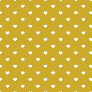 Gold Polka Dot Hearts