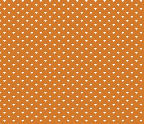 Burnt Orange Polka Dot Hearts