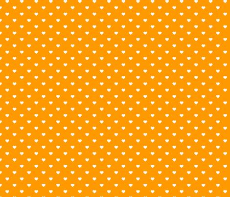 Orange Polka Dot Hearts