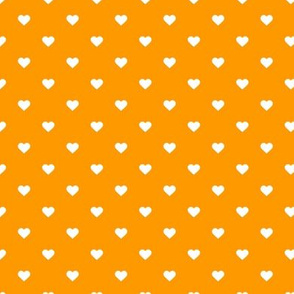 Orange Polka Dot Hearts