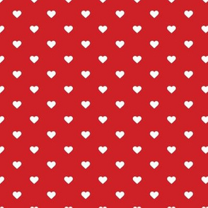 Red Polka Dot Hearts
