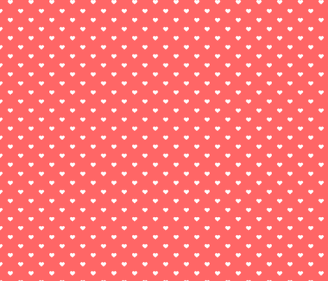 coral polka dot hearts wallpaper sweetzoeshop spoonflower