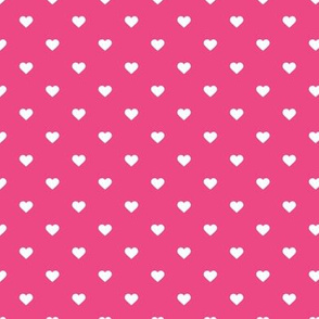 Hot Pink Polka Dot Hearts