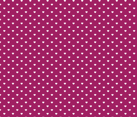 Berry Purple Polka Dot Hearts fabric by sweetzoeshop on Spoonflower - custom fabric