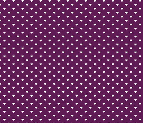 Plum Purple Polka Dot Hearts