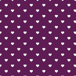 Plum Purple Polka Dot Hearts