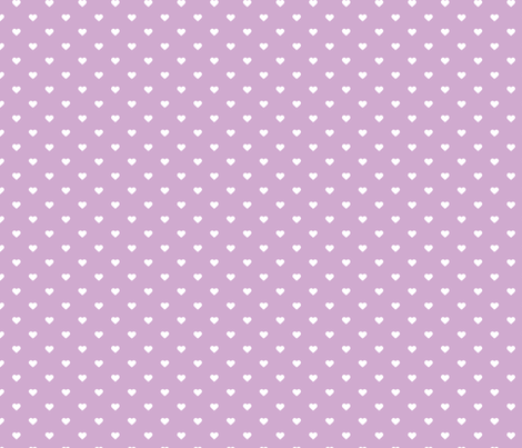 Lilac Purple Polka Dot Hearts fabric by sweetzoeshop on Spoonflower - custom fabric