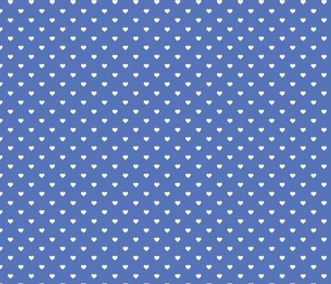 Royal Blue Polka Dot Hearts