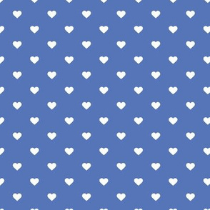 Royal Blue Polka Dot Hearts