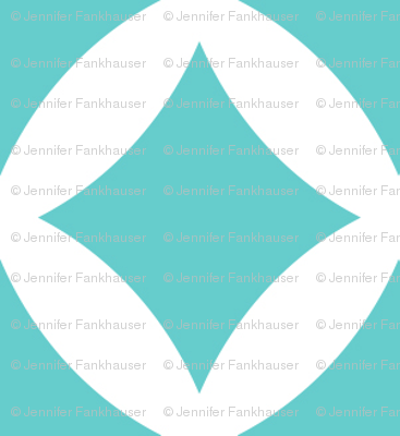 Turquoise Modern Diamonds